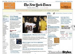 News Headlines from Oct 14, 2009