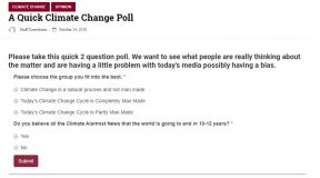 A Quick Climate Change Poll